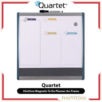 Papan Tulis Tempel Quartet 35x35cm Magnetic To Do Planner Arc Frame