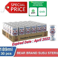 Bear Brand Susu Beruang 189ml - 1 Karton (30 Pcs)