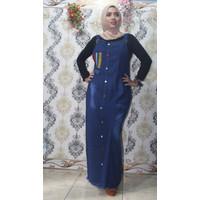 Baju kodok dewasa panjang bahan jeans