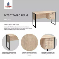 titan meja tulis/ meja kantor/ meja kerja 1/2 biro olympic kaki besi