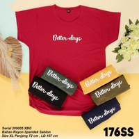 Atasan Rayon Spandek Baju T-shirt Kaos Wanita Jumbo