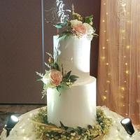 Kue pengantin 2 tingkat