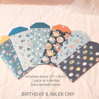 amplop angpao custom imlek / ulang tahun / lebaran [besar isi 6]