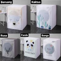 Cover Mesin Cuci Sarung Pelindung Penutup Mesin Cuci Bahan PVC Premium - Rusa, Buka Atas