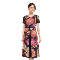 Dress Batik Modern Wanita Lengan Pendek Rianty Lucita