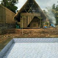 saung bambu murah gazebo murah atap Alang Alang harga permeter persegi
