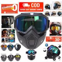 Kacamata gogle goggles mask retro trail supermoto helm google klx crf