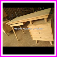 Meja kerja jati - Meja kantor minimalis kayu jati mebel Jepara