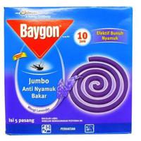 Baygon Lavender Obat nyamuk Bakar Tahan 10 Jam [5 pasang / 1 pack ]