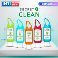 SECRET CLEAN - Hand Sanitizer Gel Aloe Vera 50 ml | Aseptic Gel