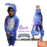 Kostum Stitch Anak Baju Tidur Cosplay Costum Lucu Animal Impor Onesie