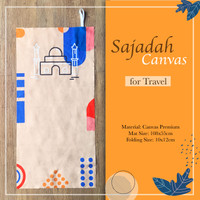 Sajadah Canvas Travel Motif Printing
