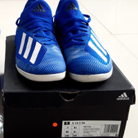 sepatu futsal adidas x 19.3 Biru Original no. 40 (bonus kaos kaki)
