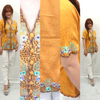 baju kebaya modern terbaru Aurellia tema warna kuning