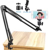 lazypod holder hp tablet jepit meja 3.3 inci overhead kamera tripod