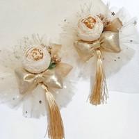 Jepitan Rambut / Bando Flower Imlek Tassel CNY Handmade Premium