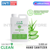 SECRET CLEAN - Hand Sanitizer Gel Aloe Vera 5 Liter | Aseptic Gel