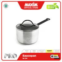 Maxim Pro Panci Teflon Anti Lengket 18cm Saucepan + Tutup Kaca
