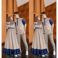 [ COD ] Aron Couple Cp Baju Pasangan Kondangan Pesta Muslim