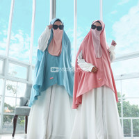 NASYA KHIMAR - Khimar Bolong Tangan - Nusseyba Activewear