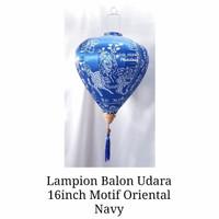 Lampion Imlek Balon Udara 16inch Biru Navy Motif Oriental