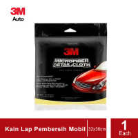 3M 39016 Microfiber Detail Cloth (Lap Mobil) size:12 in x 14 in