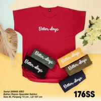 Atasan Rayon Spandek Baju T-shirt Kaos Wanita Jumbo - Navy