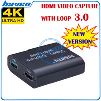 Video Capture HDMI USB Card with Loop/Audio USB 3.0 - 1080P Loop Audio