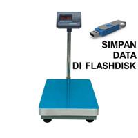Timbangan Lantai A12E Stainless + USB Data Logger - Kapasitas 150 Kg