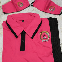 Satu set baju olahraga bhayangkari