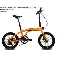 Sepeda Lipat 20 Pacific Noris 2.0 Transformer Alloy Terbaru - Orange