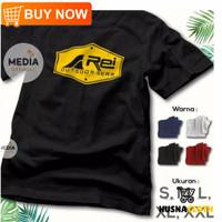 T-shirt baju kaos distro pria wanita rei outdoor blok combed 30s - Hitam, S