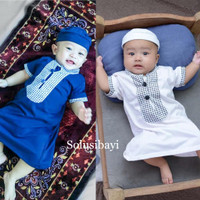 Baju Muslim Gamis Koko Jubah Arab Bayi Ozk Baju Bayi Laki-Laki
