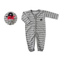 Bearhug Jumper Bayi Laki-laki XJF5 Salur Abu Putih 3-12M