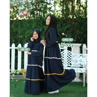 Baju Muslim Gamis Couple Ibu Anak Raggakids RG 37 Navy