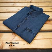 kemeja jeans lengan pendek pria/kwalitas import/size M.L.XL