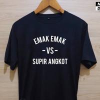 Kaos Baju Combed 30 Distro EMAK VS SUPiR ANGKOT polos custom indonesia