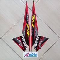 Sticker Striping Motor Honda Revo Fit 2017 Hitam-Merah