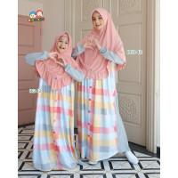 Baju Muslim Gamis Couple Ibu Anak Raggakids RG 42