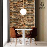 Wallpaper Dinding Wallpaper 3D Motif Foam Batu Bata Walpaper Matougui