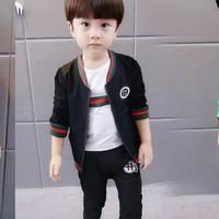 Setelan sweater t-shirt celana joger branded Gucci anak cowok import