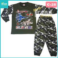 Setelan Anak Laki / 7-13 tahun / Baju Tidur Anak Laki Laki / cowo / R - 6-7 Tahun, C-28 Army