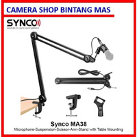 Synco Audio MA38 Microphone Arm Stand with XLR Cable, 360° Rotation