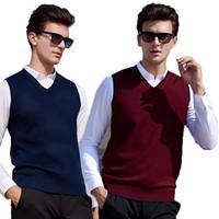 NOSH Rompi Pria Rajut Polos Ian /knit vest seragam kantor