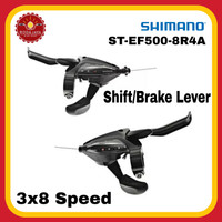 SHIMANO ST-EF500-8R4A Shifter 3 x 8 Speed + Handle Rem
