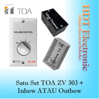SATU SET TOA Volume Control Attenuator ZV-303 6-30W + INBOW/OUTBOW