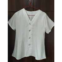preloved blouse korea atasan wanita warna putih