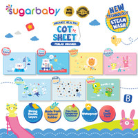 Sugarbaby Perlak Bayi Karet Organic Healthy Cot Sheet Sugar Baby
