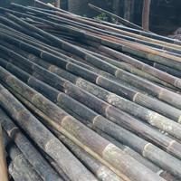 #sedia bambu hitam panjang 6m diameter 6 sampe 10 cm harga per m