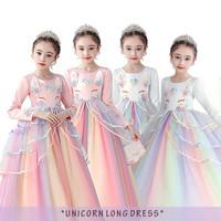 dress princess Unicorn anak baju unicorn lengan panjang 3-10 thn